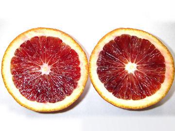 ブラッドオレンジの断面